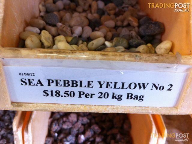 Sea Pebble Yellow No 2 - 20kg Bag