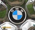 BMW METALLIC WHEEL CENTRE DISCS (new)