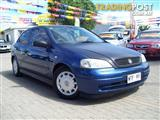 2002 HOLDEN ASTRA CITY TS 3D HATCHBACK