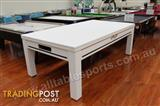 7 Foot Riley Westminster Pool Dining Table (Floor White Table)