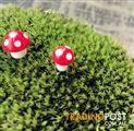 10 x Mini Red Mushrooms decorations