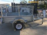 6 x 4 GALVANISED HOT DIPPED SINGLE AXLE BOX TRAILER (NEW) WITH 600mm CAGE