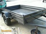 "7 X 4'6"" BOX TRAILER 330mm PRESSED SIDES, SMOOTH FLOOR & GUARDS"