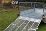 8x5 GALVANISED HOT DIPPED TANDEM AXLE BOX TRAILER (NEW) WITH 600mm CAGE & 1600mm RAMP