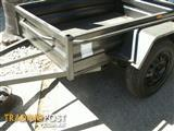 7 X 4 BOX TRAILER 330mm PRESSED SIDES WITH TIE RAIL  ***NEW*** SMOOTH FLOOR & GUARDS