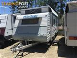 2003 16' WINDSOR STREAMLINE SINGLE AXLE POP TOP CARAVAN