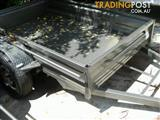8 X 5 BOX TRAILER 330mm PRESSED SIDES X-PLATE FLOOR & GUARDS