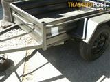 8 X 4 BOX TRAILER 530mm HIGH SIDES X-PLATE FLOOR & GUARDS *NEW*