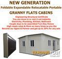 Revolutionary New Expandable Foldable Portable Relocatable Fully Insulated GRANNY FLATS/CABINS