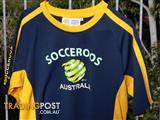 Official Socceroos Shirt Navy and Gold - Size 16