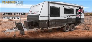 Red Centre Kimberley Plus 21' Off Road Caravan (rear door)