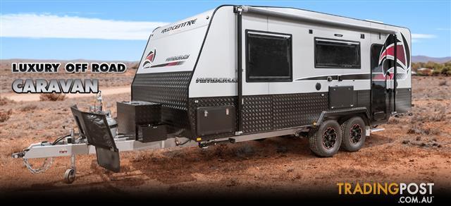 Red Centre Kimberley Plus 21' Off Road Caravan (rear door)