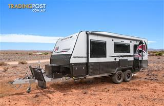 Red Centre Kimberley 20'8 Off Road Caravan (rear door)