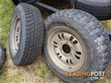 Mitsubishi pagero wheels and tyres