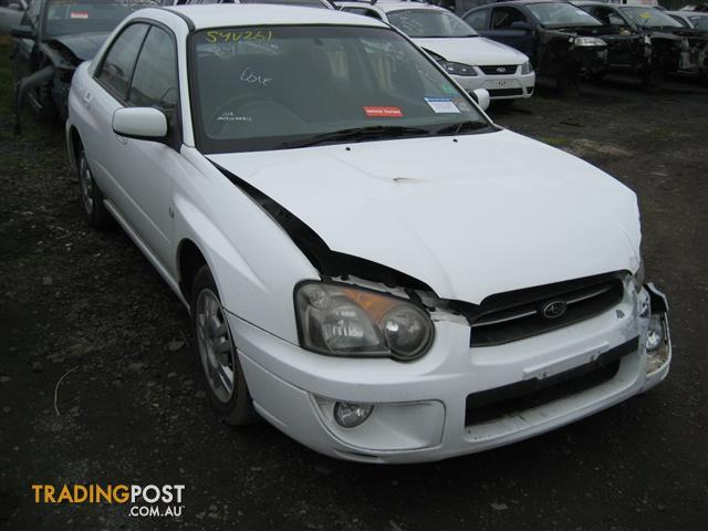 SUBARU IMPREZA 2004 SEDAN (COMPLETE CAR FOR WRECKING)