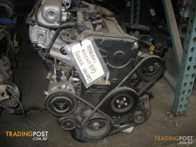 HYUNDAI ACCENT 2007 ENGINE