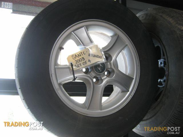 Hyundai Sante Fe 2002 Mag Wheel Set