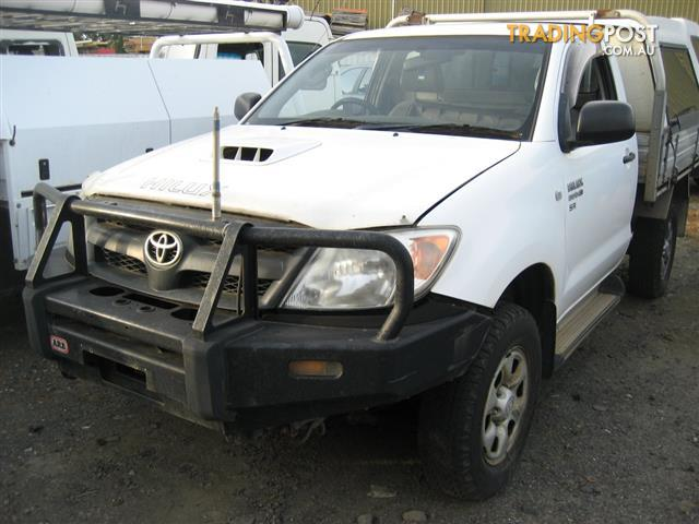 TOYOTA HILUX 2008 KUN SINGLE CAB 4WD FOR PARTS & WRECKING COMPLETE CAR