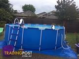 15 FT INTEX ABOVE GROUND FRAME SWIMMING POOL WITH FILTER