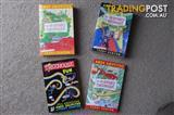 3 NEW & 1 used Storey Treehouse books, A. Griffiths & T. Denton
