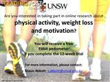 Wanted: Participants for physical activity research - FREE Fitbit for participating