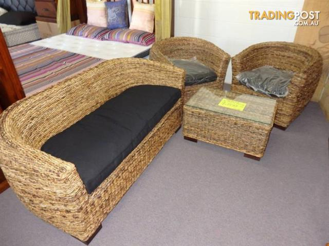New cane outdoor lounge suite with coffee table 899 for for Outdoor furniture toowoomba