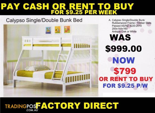 New Bunks Single Bottom And Double Top Rent Keep 8 95 Pw