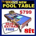 NEW POOL TABLE WITH $800 FREE EXTRAS. RENT KEEP $9.25 PW