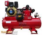 BOSS 20 CFM/ 6HP Diesel Air Compressor  112L Tank (E/Start)