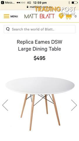 White dining Table from MattBlatt