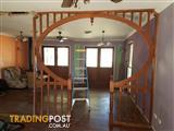 Federation style interior timber archway/ room divider