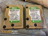 WD HDD 2x 808GB Hard drives