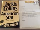 1993 AUTOGRAPHED/SIGNED JACKIE COLLINS HARDBACK AMERICAN STAR