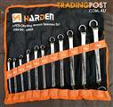 Harden Metric 11 piece Ring Spanner Set in a Tool Roll. @ Moolap