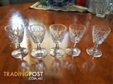 Vintage fine crystal liqueur glasses