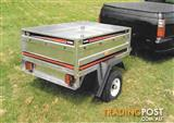 Aunger 4x3 galvanised tipping trailer