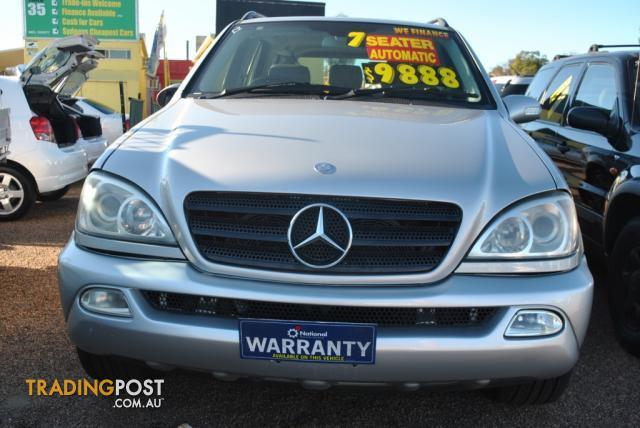2002 mercedes benz ml 320 luxury 4x4 w163 4d wagon for. Black Bedroom Furniture Sets. Home Design Ideas