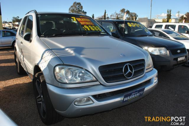 2002 mercedes benz ml 320 luxury 4x4 w163 4d wagon for for Mercedes benz service charges