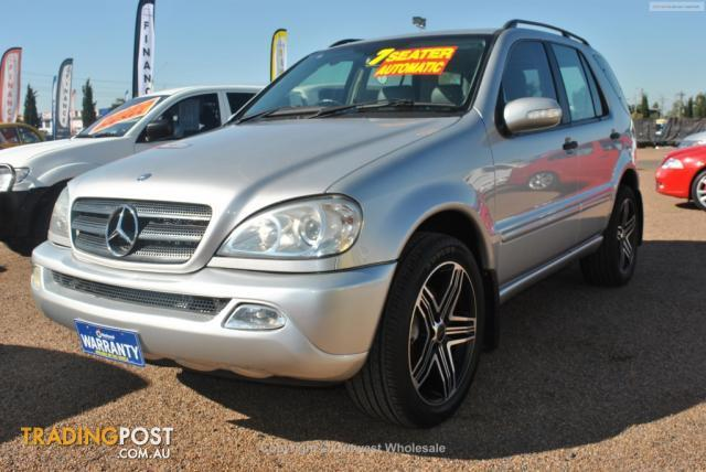 2002 mercedes benz ml 320 luxury 4x4 w163 4d wagon for sale in minchinbury nsw 2002 mercedes. Black Bedroom Furniture Sets. Home Design Ideas