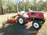 Mitsubishi  with slasher or finishing mower.