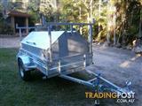 NO RUST TRAILERS.   7 x 4 Australian made Tradesman trailer with ladder rack.