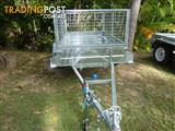 NO RUST TRAILERS.  7 x 4 Australian made and galvanized trailer with cage.