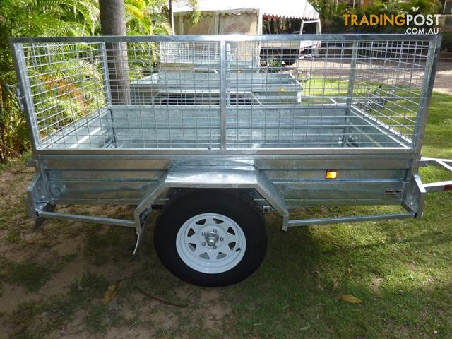 NO RUST TRAILERS. 7 x 4 Australian made and galvanized trailer with ...