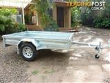 NO RUST TRAILERS.   8 x 5 Australian made and galvanized box trailer with tilt.