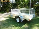 NO RUST TRAILERS.  Australian made 7 x 5 trailer with cage and tilt.