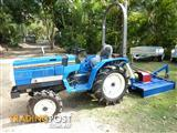 Mitsubishi, different models,  4x4 tractor with mower.