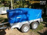 NO RUST TRAILERS.  PVC cover to fit on 8 x 5 cage trailer.
