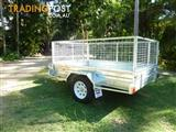 NO RUST TRAILERS.  Australian made trailer with tilt and cage.