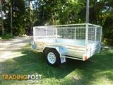 NO RUST TRAILERS.  7 x 5 Australian made and Galvanized cage trailer.