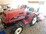 MITSUBISHI, SMALL GARDEN TRACTOR with MOWER.